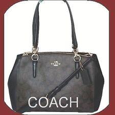 COACH Signature Small Christie Carryall Crossbody Satchel Purse F58291 Gift Box