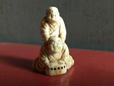 RARE MÉDECIN MASSEUR  NETSUKE ANCIEN XVI EME SIECLE MING CHINE SIGNE OLD DOCTOR