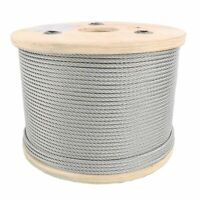 "3/32"" 7x7 Galvanized Aircraft Cable Steel Wire Rope"