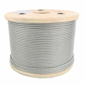 "3/16"" Stainless Steel Aircraft Cable Wire Rope 7x7 Type 304"