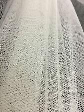 Blanco neto Tutu Tela-Extra Stiff-Tul material de malla 140 Cm De Ancho-Por Metro