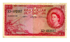 British Caribbean Territories ... P-7c ... 1 Dollar … 1961 … *F/VF*