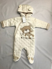 Rock A Bye Baby Velour Padded Quilted Little Bear Pram Suit Boys Girls Unisex
