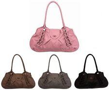 Flap Patternless Unbranded Shoulder Bags