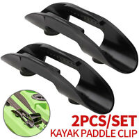 2Pcs Kayak Marine Paddle Clips Holder Plastic Boat Watercraft Accessories Black