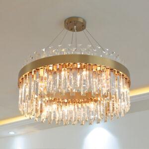 Modern chandelier living room dining room light luxury clear crystal lamp light