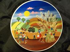 BARBARA FURSTENHOFER SUMMER SCENE 7 3/4 INCH WALL HANGING GERMANY CROWN D NICE!!