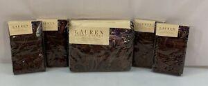 Ralph Lauren Queen Bohemian Paisley Duvet Set Euro Standard Shams 5 Pc Full NWT