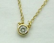 Dainty Lovely 18 carat Gold And Diamond Solitaire Necklace