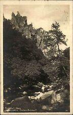 Bodetal Sachsen-Anhalt Harz 1938 Felsenpartie Sieben Brüder gel. Kirchsteinbek