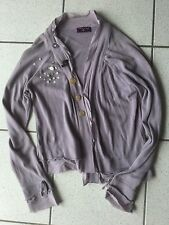 Gilet One Step coton gris parme taille XL Neuf