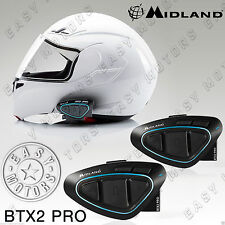 DOPPIO INTERFONO INTERPHONE MIDLAND BTX2 BTX 2 BT X2 TWIN X CASCO MOTO SCOOTER