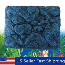 New listing 3D Rock Stone Reptile Aquarium Fish Tank Background Board Plate Decor 60x45cm
