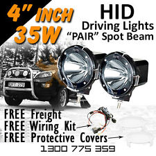 HID Xenon Driving Lights - Pair 4 Inch 35w Spot Beam 4x4 4wd Off Road 12v 24v