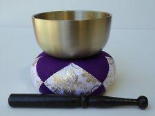 "Japanese Meditation 3.5""D Brass Bowl Singing Bell Set Buddhist Butsudan/E3145"