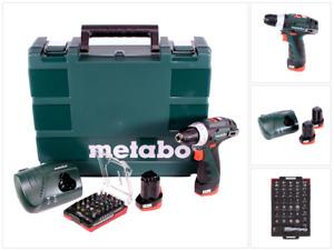 Metabo Power Maxx BS 10,8 Akku Bohrschrauber 10,8 V + 2x Akku + Lader + Bit Set
