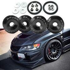 4pc JDM Black Car Bumpers Trunk Fender Hatch Lids Quick Release Fasteners