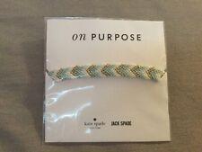 Bnwt Kate Spade On Purpose Jack Spade-woven friendship Bracelet Metal/ Mint