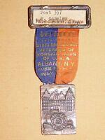 VINTAGE 1938 VFW ALBANY  NY  MEDAL & RIBBON PIN