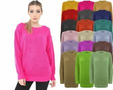 Ladies Women Knitted Sweater Top Long Sleeve Over sized Chunky Knit Baggy Jumper