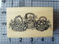 PSX (PERSONAL Stamp Exchange) 3 cesti in vimini stile pieno Wood & Rubber Stamp