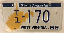 West Virginia WILD WONDERFUL T1 LOW NUMBER #170 license plate Trailer