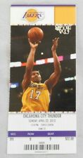 Los Angeles Lakers Vs Oklahoma City Thunder 4/22/12 Ticket Stub