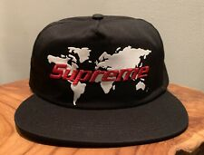 af9f33d93a9 Mens Supreme SS19 World black 5 Panel snapback hat cap one size w  receipt  nwt