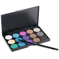 Lidschatten Augenbraue 15 Farbe + pinsel Matte Einzelne Glitter Pallete Make-Up