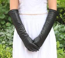 Women Fashion 18'' Long Fashion Genuine Leather Winter Opera Gloves 3 lines