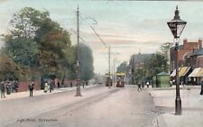 London Postcard. High Road. Tottenham. Haringey. Trams!  Gordon Smith! 1906