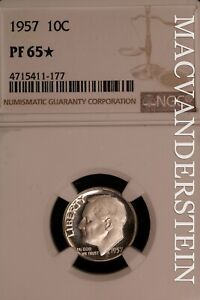 1957 Roosevelt Dime - NGC PF 65* - Scarce  Proof  Better Date  #SLO712