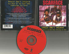 SCARFACE w/ ICE CUBE People Don't Believe 7TRX MIXES & INSTRUMENTAL CD Single