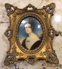 """Vintage Cameo Creations """"Portrait Of A Lady"""" Ornate Picture Frame Wall Art Fancy"""