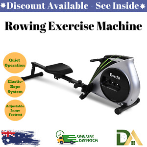 Rowing Exercise Machine Rower Resistance Home Gym Everfit Latest Version