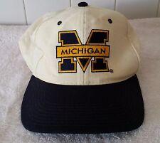 Vintage Michigan Wolverine Trucker Baseball Hat White New Era College University