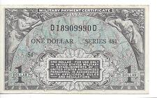 MPC Series 481  1 Dollar  3rd  Printing  ABOUT UNC