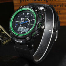New Men's Sports LED Digital Resin Day Date Chronograph Waterproof Wrist Watch
