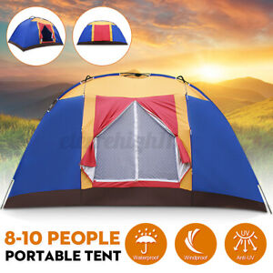 10 Person Large Portable Family Tent for Traveling Camping Hiking Waterproof US