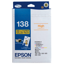 Epson T138695 138 XL Ink Cartridge 4 Pack