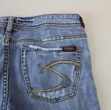 Womens Designer Silver PRISM Jeans Size 29 29x33