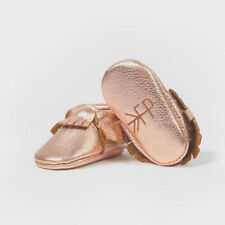 Freshly Picked Rose Gold Baby Moccasins Sz 3