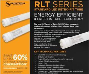 25x Syntech LED T8 Tube RLT Series 9w 60cm or 12w/14w/18w/22w 4Ft 120cm Stardand
