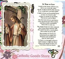 In Time of Loss - Scalloped paperstock Holy Card