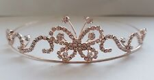 Childrens Rose Gold communion/Flower Girl crystal Tiara / Headband -Kids Size 56