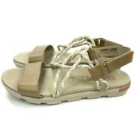 Sorel Torpeda Sandals Size 8 Womens Tan Leather Trail to City Hook Loop Closure