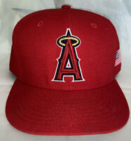 New Era 59Fifty LA Anaheim Angels On-Field Cap Red W/ Golden Halo & US Flag7 3/4