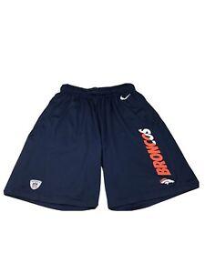 Nike On Field Denver Broncos Shorts Size S Mens Blue