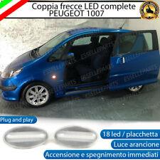 PLACCHETTE A LED FRECCE LATERALI 18 LED SPECIFICHE PEUGEOT 1007 CANBUS