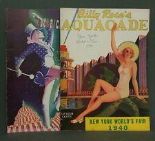 New York World's Fair 1940 2 programs Pin-up Aquacade
